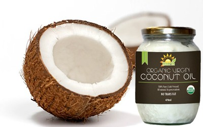 nutria oil with fresh coconuts